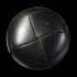 Lederknopf schwarz