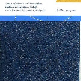 Jeansflicken zum aufbuegeln dunkelblau
