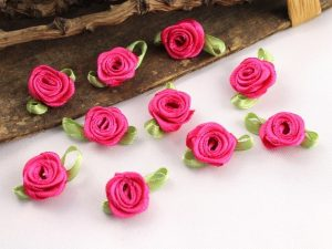 Stoffrosen klein pink