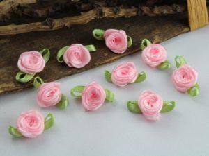 Stoffrosen rosa