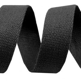 Gurtband Baumwolle mm Schwarz
