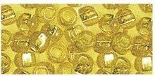 Rocailles silbereinzug gelb