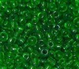 Rocailles transparent grün
