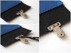 Steckschloss anbringen Magnetschloss Drehverschluss anbringen Taschenverschluss modage