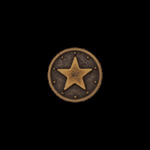 Metallknopf Stern