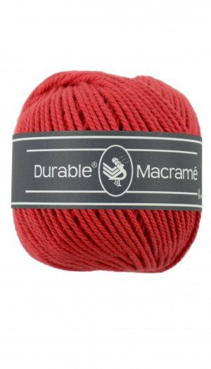 durable macrame  red
