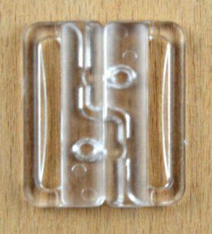 Bikini Verschluss  mm transparent