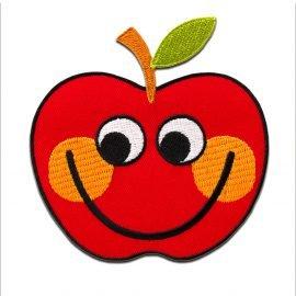 Aufnaeher Buegelbild Apfel Frucht rot