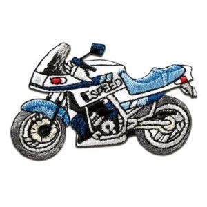Aufnaeher Buegelbild Motorrad Speed Biker bla