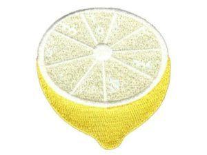 Bügelbild Applikation Aufnäher Patch Zitrone Pailletten