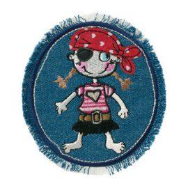jeansflicken piratenmaedchen   cm
