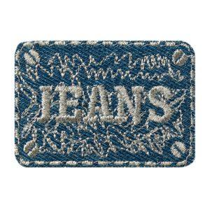 jeanspatch blau silber   cm