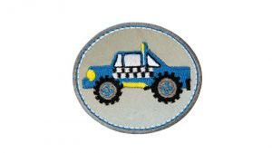 mono quick buegelmotiv reflex truck blau