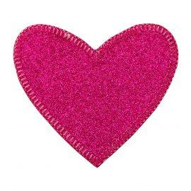 glitzerherz pink   cm