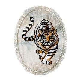 tiger jeanspatch grau batik   cm