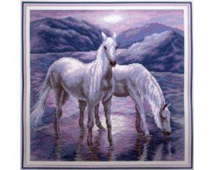 Stickbild Pferde
